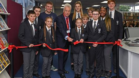 The official opening of the new Learning Resource Centre at Longsands Academy
