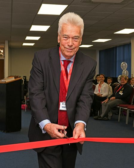 Professor Robert Tombs from Cambridge University opened the new Resource Centre at Longsands Academy
