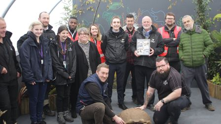 Tank the Oaklands College tortoise was given a new enclosure at the St Albans campus by contractors