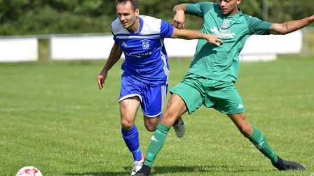 Micky Hyem struck for Godmanchester Rovers in their defeat at Newmarket Town. Picture: DUNCAN LAMONT