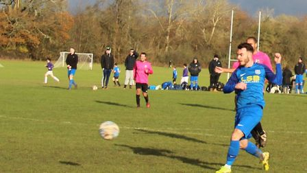 James Todd of AFC London Road scored twice against Oaks in the Herts Ad Sunday League Premier Divisi