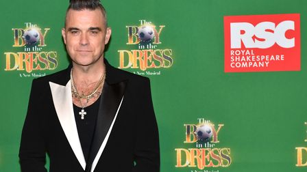 Robbie Williams attending the opening night of the Boy In The Dress at the Royal Shakespeare Company