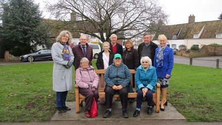 ESCA has placed a bench on Eaton Socon Green as part of its 40th birthday celebrations