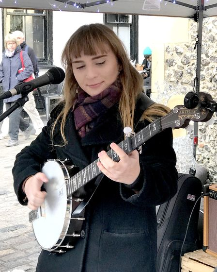 Ellie McCann performing in St Albans. Picture: Supplied by St Albans Folk Festival