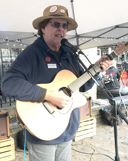 Julian Mount performing in St Albans. Picture: Supplied by St Albans Folk Festival