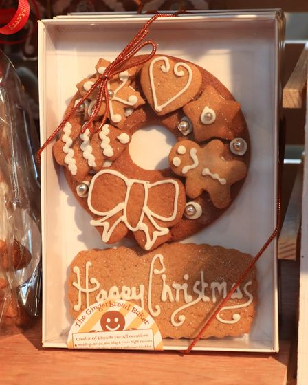 One of the many handmade cookies on offer at the Ashwell Christmas Fayre 2019. Picture: KEVIN RICHAR