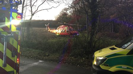 Police, fire, ambulance and air ambulance services were called to a crash on Coopers Green Lane in S