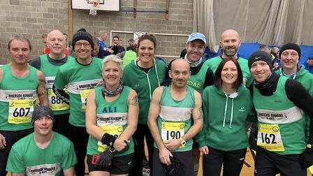 Riverside Runners members who took part in the Bedford Harriers Half Marathon. Picture: SUBMITTED