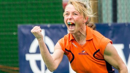 St Albans Hockey Club's Liz Cleverly scored two for the third team against Waltham Forest. Picture: