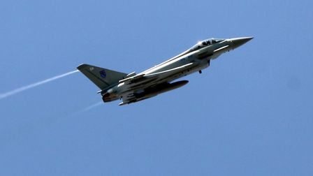 Typhoon jets flying faster than the speed of sound caused the explosion noise heard across Herts. P