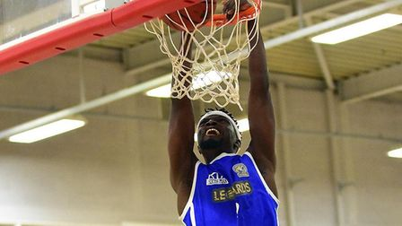 Hafeez Abdul in action for Leopards against Liverpool in the National Basketball League Division Onc
