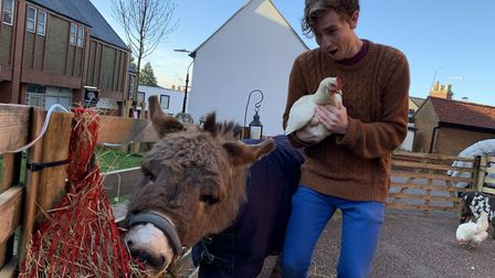 St Albans church on Lower Dagnall Street held a real nativity event at the weekend. Picture: Supplie