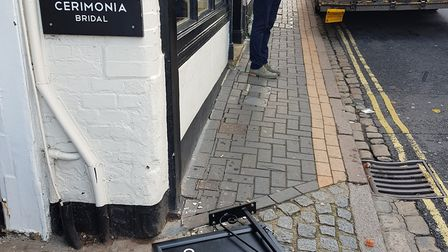 The owners of Cerimonia had to pay £1,000 to replace its sign when it was hit by a lorry in November