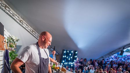 Tom Kerridge at Pub in the Park, St Albans. Picture: Jo Hailey / Striking Places Limited