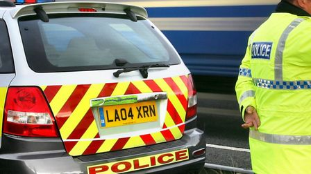 Two men were arrested last night in South Mimms in connection with the theft of eight Range Rovers w