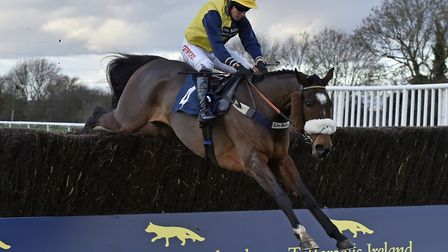Charbel on the way to victory in the Peterborough Chase - which was run as the Tattersalls Ireland E