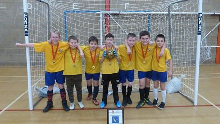 The successful St John''s CofE Primary School team at the Year 5/6 Mixed Futsal competition. Picture