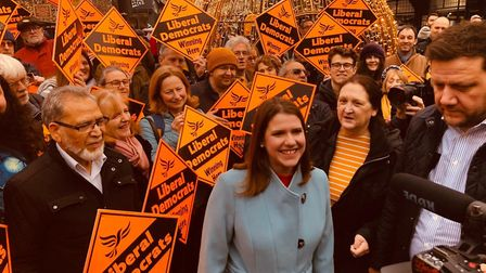 Liberal Democrat leader Jo Swinson came to St Albans on Saturday, December 7. Picture: