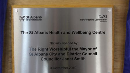 Mayor of St Albans Cllr Janet Smith opened the new health and wellbeing centre at St Albans Civic Ce