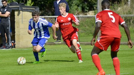 Leading scorer Jordan Brown struck as Eynesbury Rovers created history in the FA Vase. Picture: DUNC