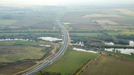 The new, 12-mile A14 Huntingdon southern bypass before it opened to traffic on December 9. Picture: