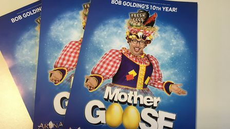 Mother Goose will be the 2020 Alban Arena pantomime with it being Bob Golding's 10th year in the St