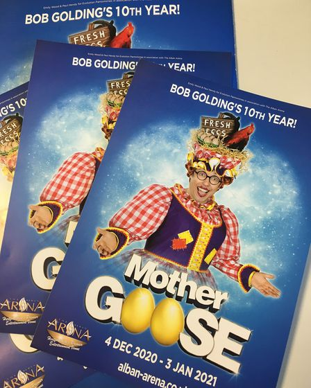 The 2020 St Albans pantomime at The Alban Arena will be Mother Goose