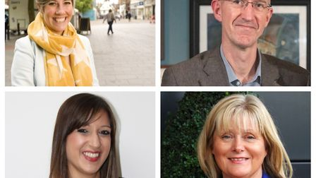 Parliamentary candidates for St Albans Daisy Cooper, Simon Grover, Rebecca Lury and Anne Main took p