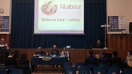 St Albans Labour candidate Rebecca Lury took part in a General Election hustings at Verulam School.