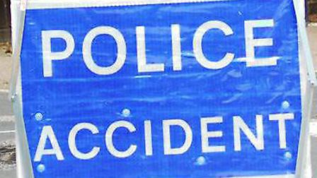 A person suffered life-threatening injuries in the collision.
