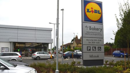 The Lidl store in Huntingdon.