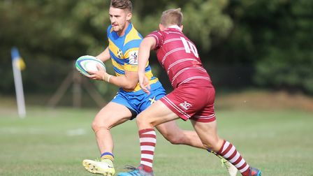 George Elliott was one of the try-scorers for St Albans against Wasps. Picture: KARYN HADDON