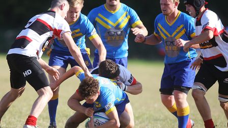 Jake Lawrence was forced out of Verulamians' game at Thamesians with a head injury. Picture: KARYN H