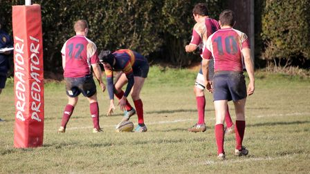 Tom King got Tabard's only try in the defeat to Enfield Ignatians. Picture: KEVIN LINES