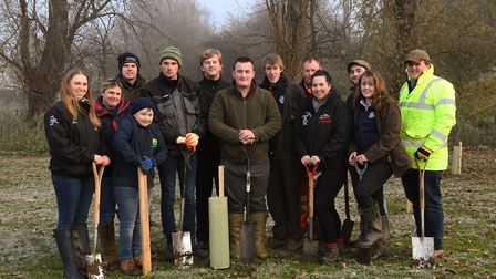 Tree planting at Riverside Park in Huntingdon. Picture: ARCHANT