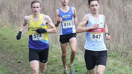 Tom Halling in action for St Albans Striders at the Chiltern Cross Country League match at Stopsley,