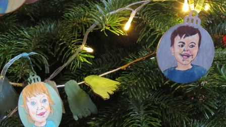 St Stephen's Church Christmas Tree Festival in St Albans. Picture: Alison Pether