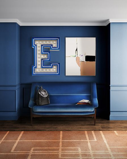 Opening statement: Covet House were influenced by Pantone''s Classic Blue to create this striking en