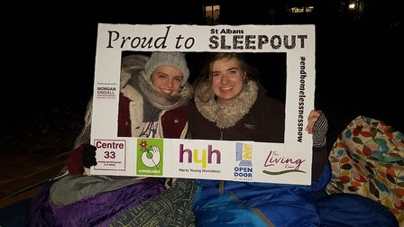 The third annual St Albans Sleepout at Oaklands College has so far raised around 30,000 for charity.