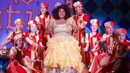 Lisa Davina Phillip as Fairy Moonbeam in St Albans pantomime Sleeping Beauty at The Alban Arena. Pic
