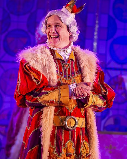 Ian Kirkby as the King in St Albans pantomime Sleeping Beauty at The Alban Arena. Picture: Pamela Ra