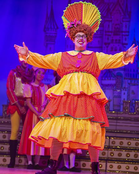 Bob Golding as Nurse Nellie in St Albans pantomime Sleeping Beauty at The Alban Arena. Picture: Pame