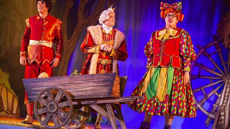 Another spurious comedy routine from Bob Golding and Ian Kirkby in St Albans pantomime Sleeping Beau