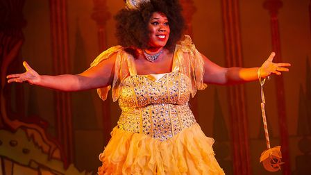 Fairy Moonbeam (Lisa Davina Phillip) in St Albans pantomime Sleeping Beauty at The Alban Arena. Pict