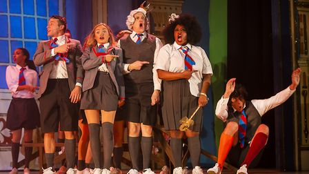 It's back to school for the cast of St Albans pantomime Sleeping Beauty at The Alban Arena. Picture: