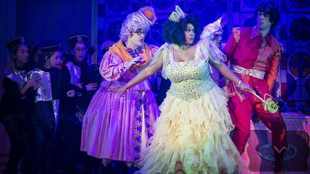 Bob Golding, Lisa Davina Phillips and Andy Day in St Albans pantomime Sleeping Beauty at The Alban A