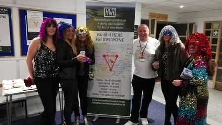 Herts Valleys Hospital campaigners spoke to party-goers at the St Albans Old School Disco, and will