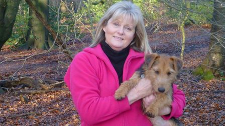St Albans MP Anne Main and her dog, Sam