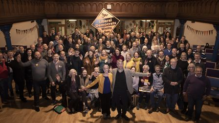 Steve Coogan visited Marlborough Methodist Church in St Albans to give his support to Lib Dem candid