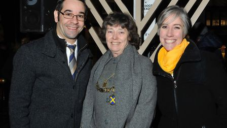 St Albans MP Daisy Cooper and Mayor Cllr Janet Smith helped light the Menorah as part of St Albans U